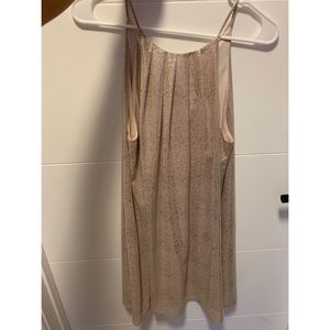 Gold shimmery Nordstrom semi formal mini dress